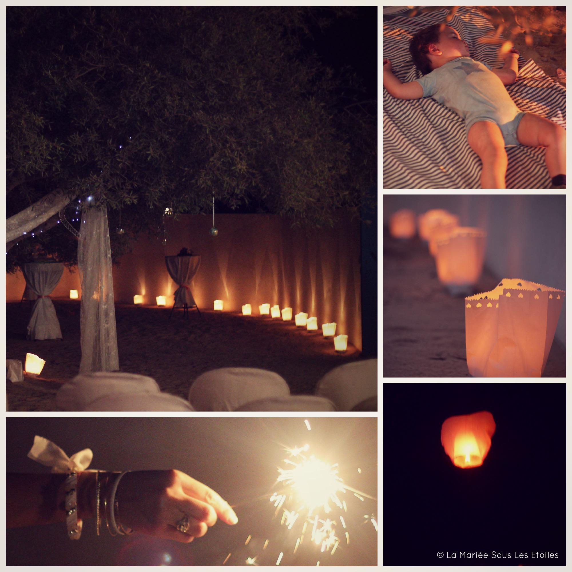 Une jolie cérémonie de mariage sous les oliviers, à la nuit tombée | La Mariée Sous Les Etoiles