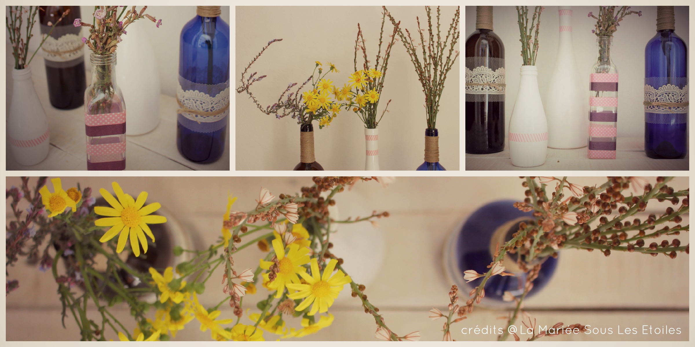Customiser ses bouteilles en verre présentée par La Mariée Sous Les Etoiles
