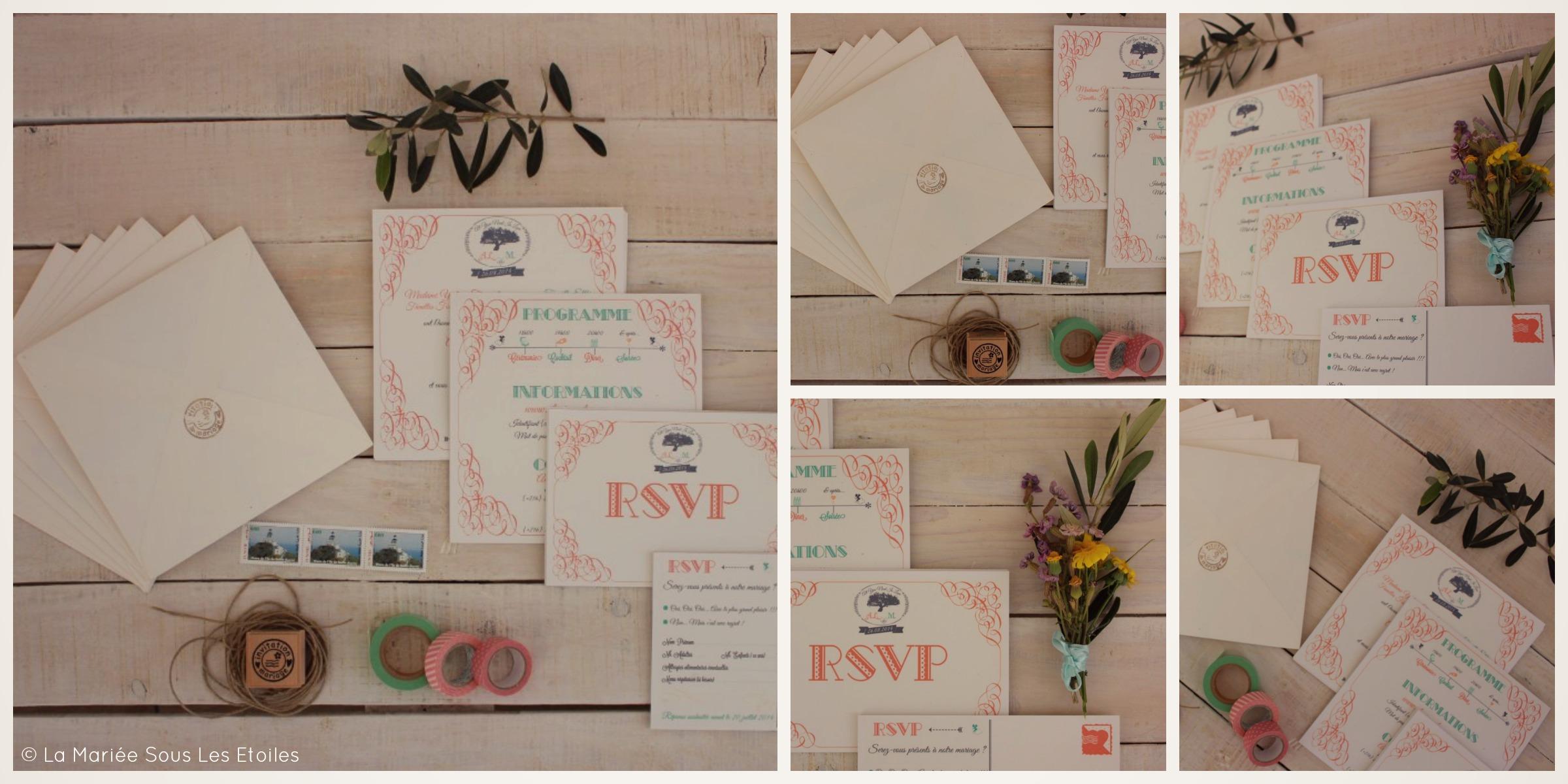 Jolie Papeterie Mariage Nuances Pastel & Esprit Bohème | Invitations Mariage & Cartons RSVP présentés par La Mariée Sous Les Etoiles