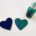 {DIY} Cake topper en cœur pailleté | Atelier Do It Yourself : Etape 2 : Glitter | La Mariée Sous Les Etoiles | Blog Mariage