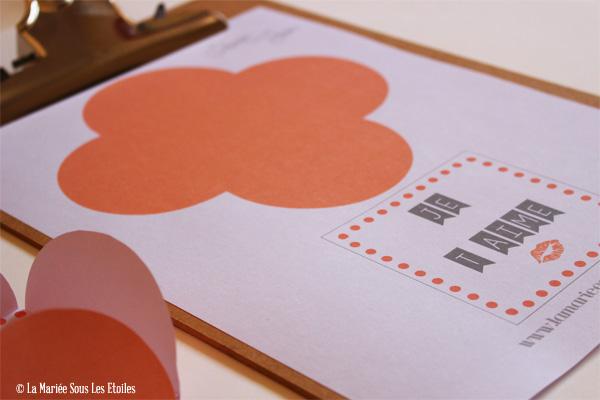 DIY : Carte Amour et son enveloppe à télécharger et imprimer | Do It Yourself | Blog Mariage | La Mariée Sous Les Etoiles