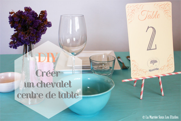 Diy cr er un chevalet centre de table - Faire un centre de table ...