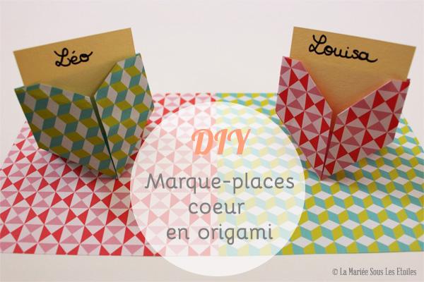 DIY {Do It Yourself} Marque-places cœur en origami par La Mariée Sous Les Etoiles