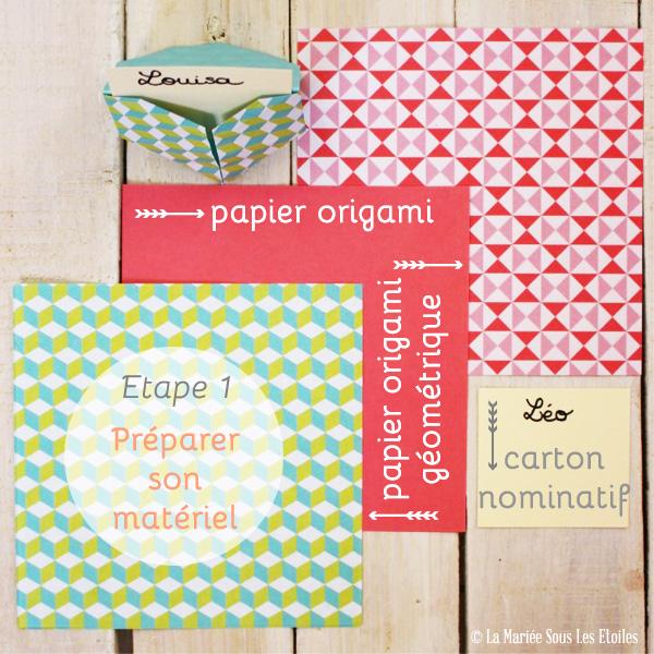 DIY {Do It Yourself} Marque-places cœur en origami| Etape 1 : Préparer son matériel par La Mariée Sous Les Etoiles