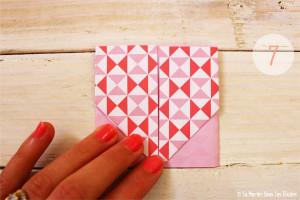 DIY {Do It Yourself} Marque-places cœur en origami| Etape 2 : L'art du pliage 7 par La Mariée Sous Les Etoiles