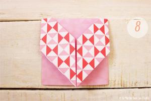 DIY {Do It Yourself} Marque-places cœur en origami| Etape 2 : L'art du pliage 8 par La Mariée Sous Les Etoiles