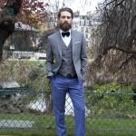 L'apiéceur sur mesure | Costumes sur-mesure | Costume sur-mesure bleu et gris| Blog Mariage | La Mariée Sous Les Etoiles