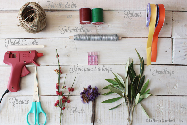 {DIY} Comment créer la boutonnière mariage de monsieur | Do It Yourself : Etape 1 Préparer son Matériel| Blog Mariage | La Mariée Sous Les Etoiles