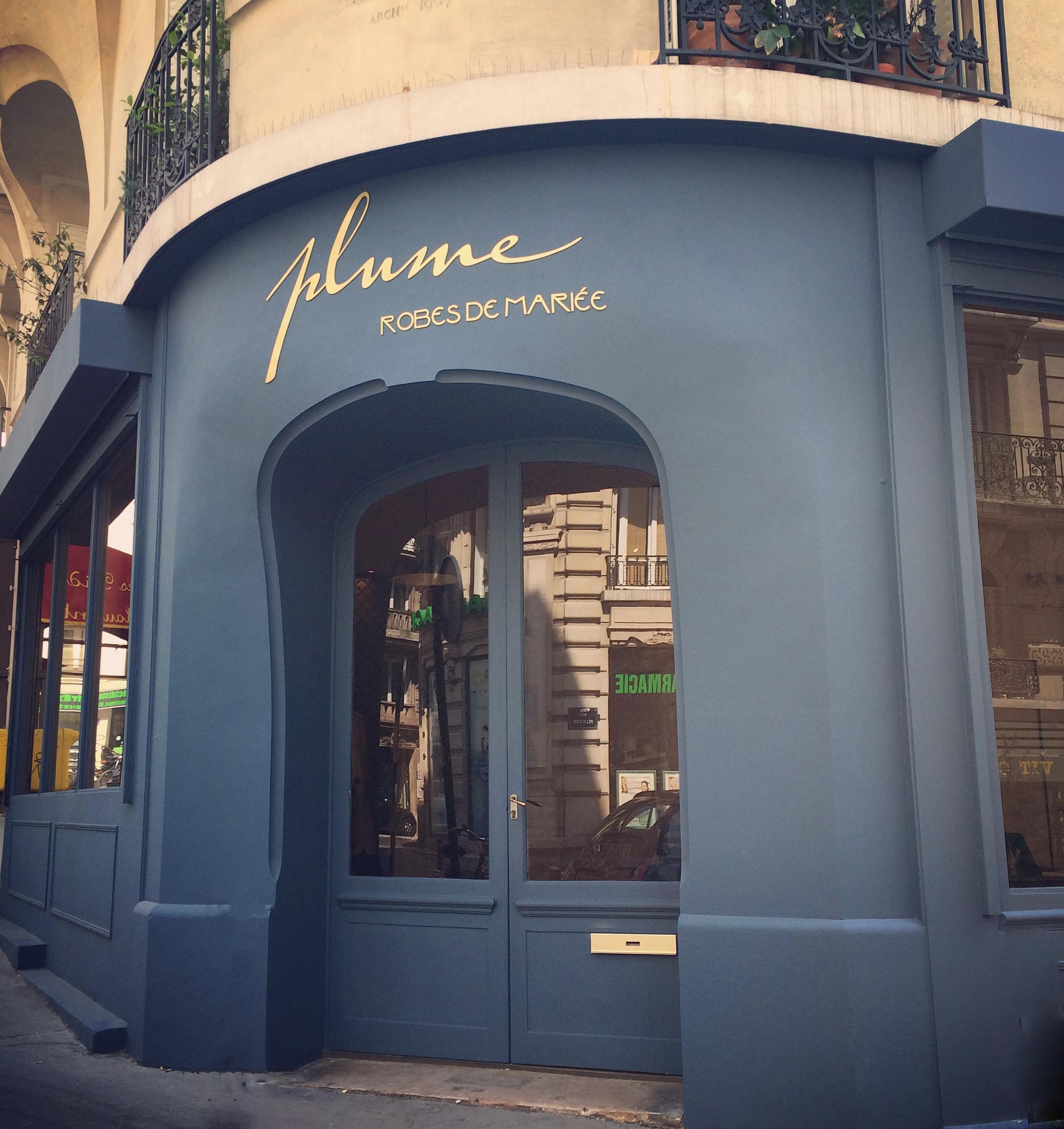 Boutique Plume, le boudoir des robes de mariée rétro-chic, Paris
