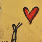 Street Art Coeur dans l'espace public, Florence | Voyage en amoureux - Florence