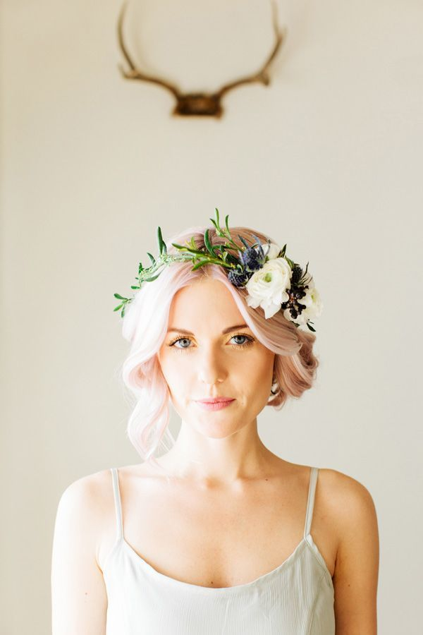 Couronne de fleurs Mariage ©Ciara Richardson Photography - Wedding Party