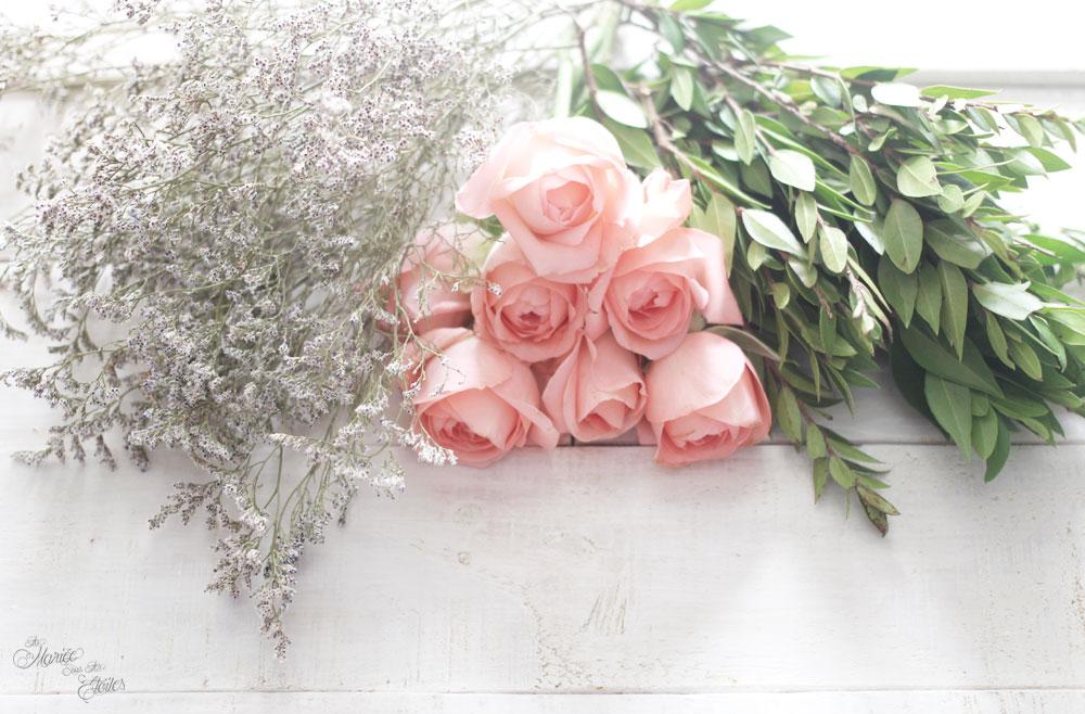 DiY-Couronne-de-fleurs-mariage | Roses & Feuillages | © La Mariée Sous Les Etoiles