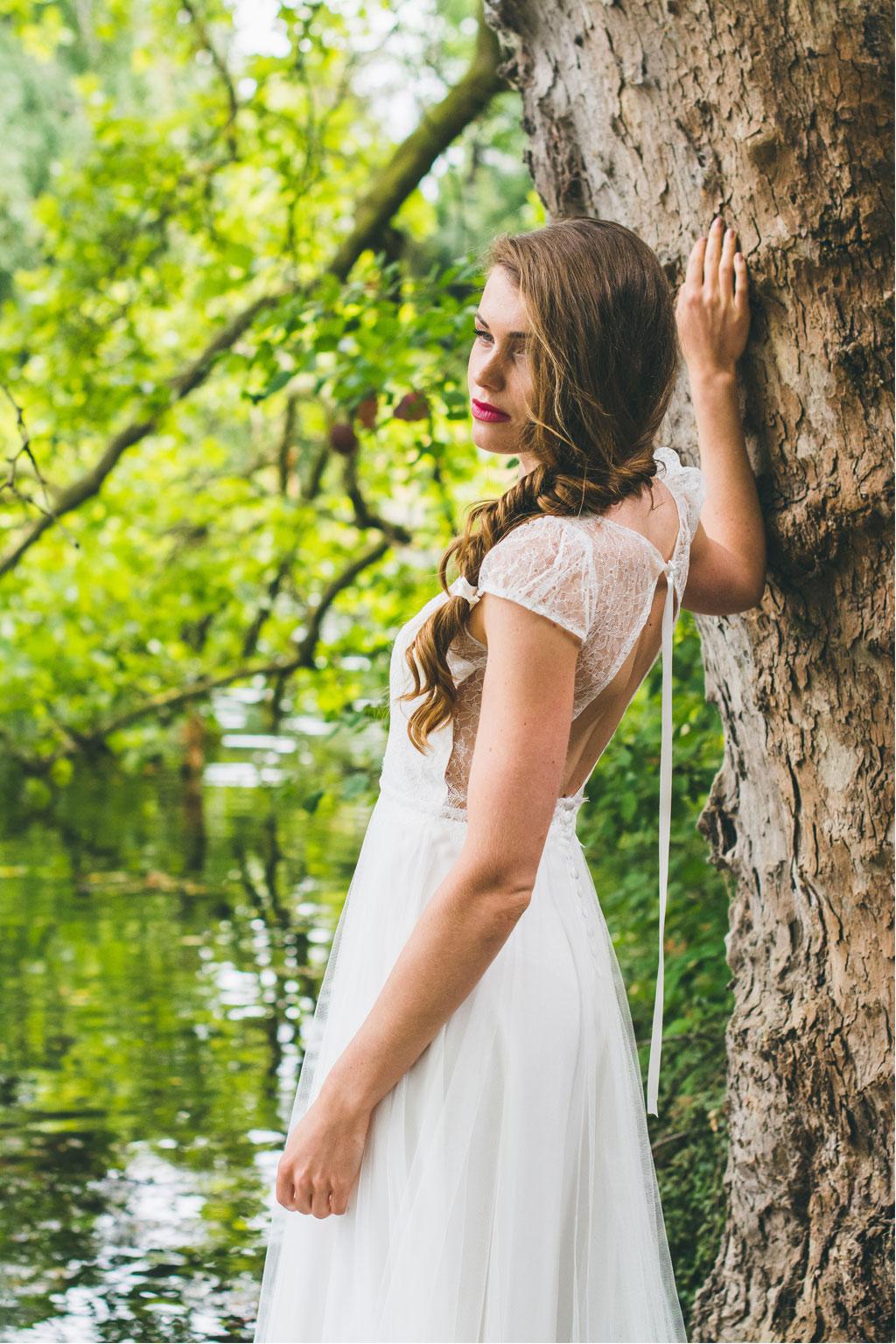 Adeline Bauwin a présenté sa collection 2016 de robes de mariée... romantiques à souhait