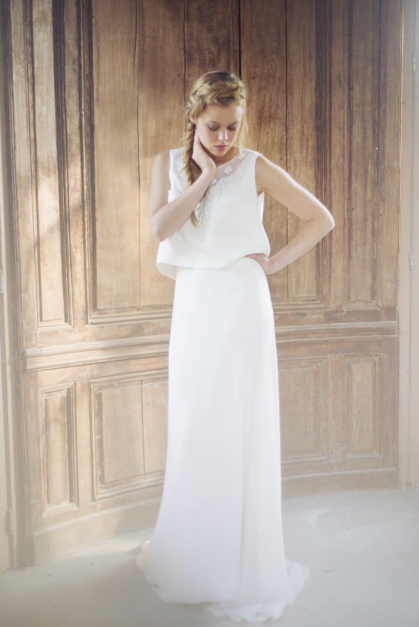 92967713a7c Jupe SOLENE et Top PO╠éL - Collection 2016 Organse Paris. Envie d une robe  de mariée ...