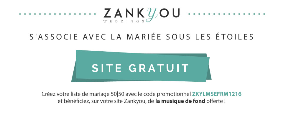 Liste de mariage Printemps - Zankyou - Promocode La Mariée Sous Les Etoiles