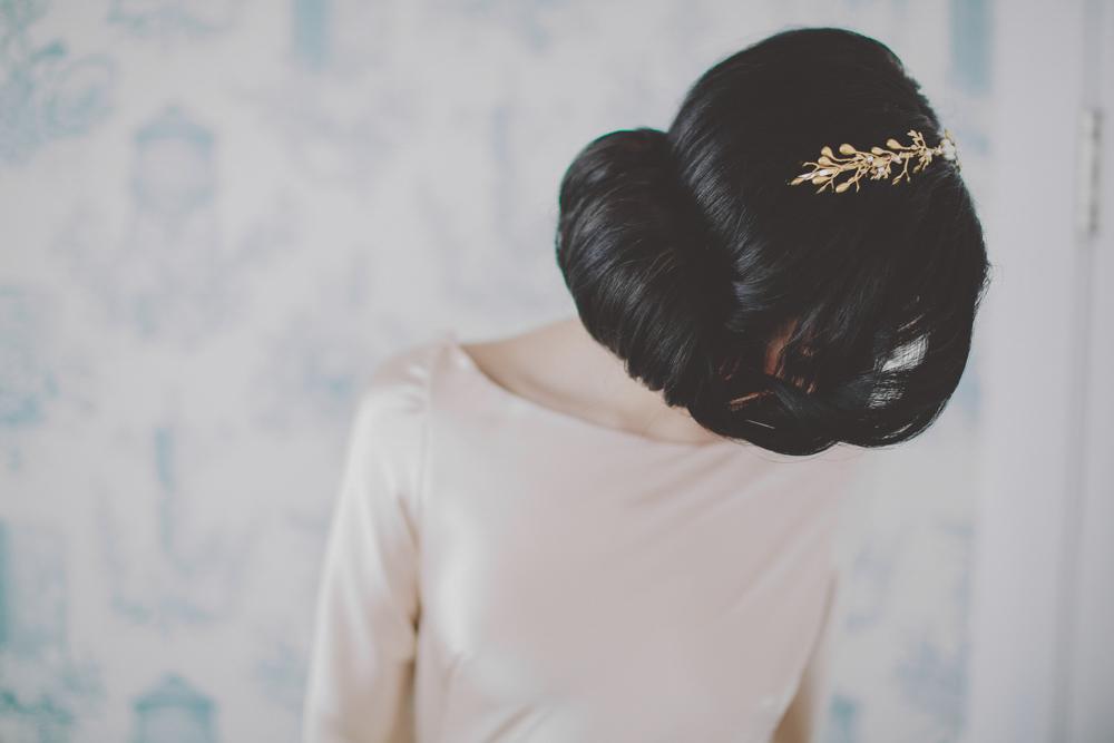 Ma sélection coiffure pour un joli chignon mariage © chellise michael photgoraphy