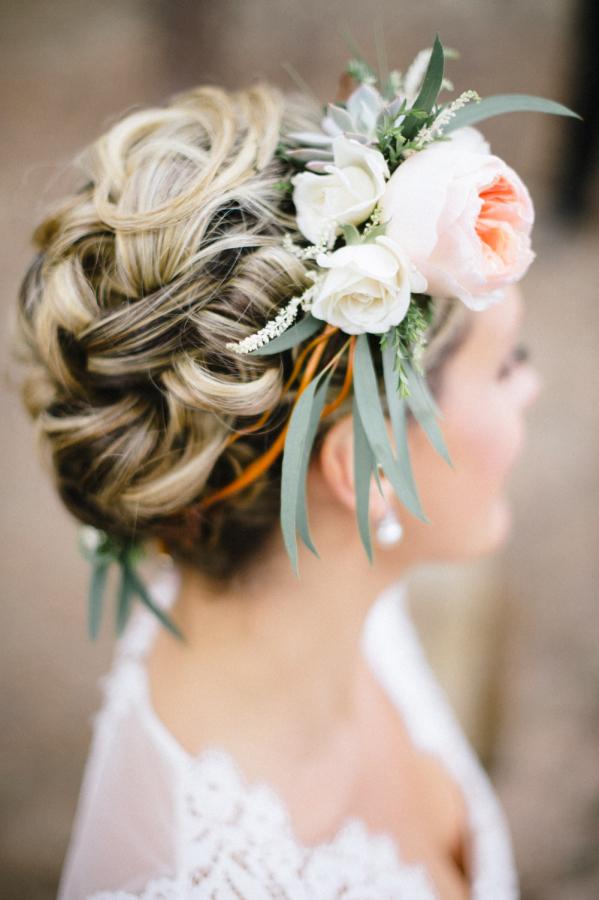 chignon mariage tressé © Bellamint Photography