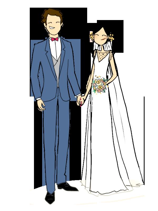 Une jolie trouvaille : le guide du mariage AMELISTE - Illustration Alix Aime - Blog La Mariée Sous Les Etoiles