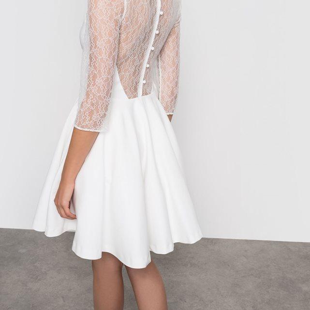 Petite robe de mariée civile et courte Mademoiselle R , La Redoute