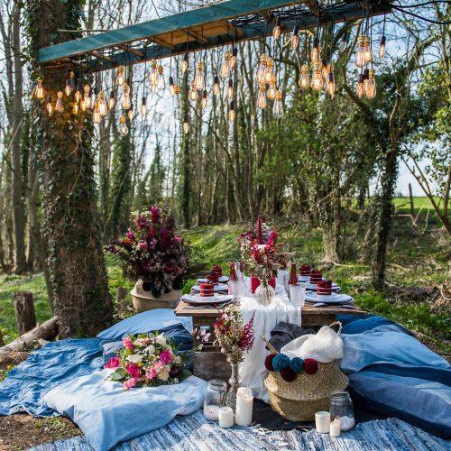 Shooting d'inspi mariage boho denim dans la forêt bordelaise blondie confettis (33)