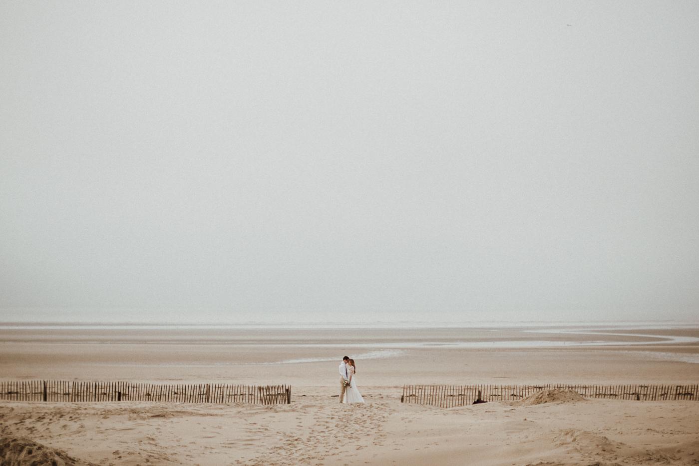 Editorial - amour esprit boho-hivernal sur la plage du Touquet