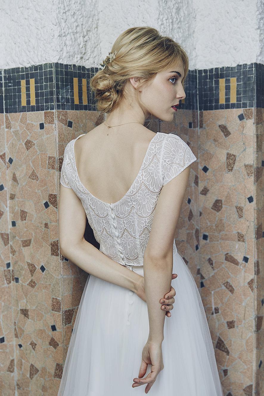 04cc9102f88 Anne de Lafforest • robes de mariée collection 2019 • La Mariée Sous ...