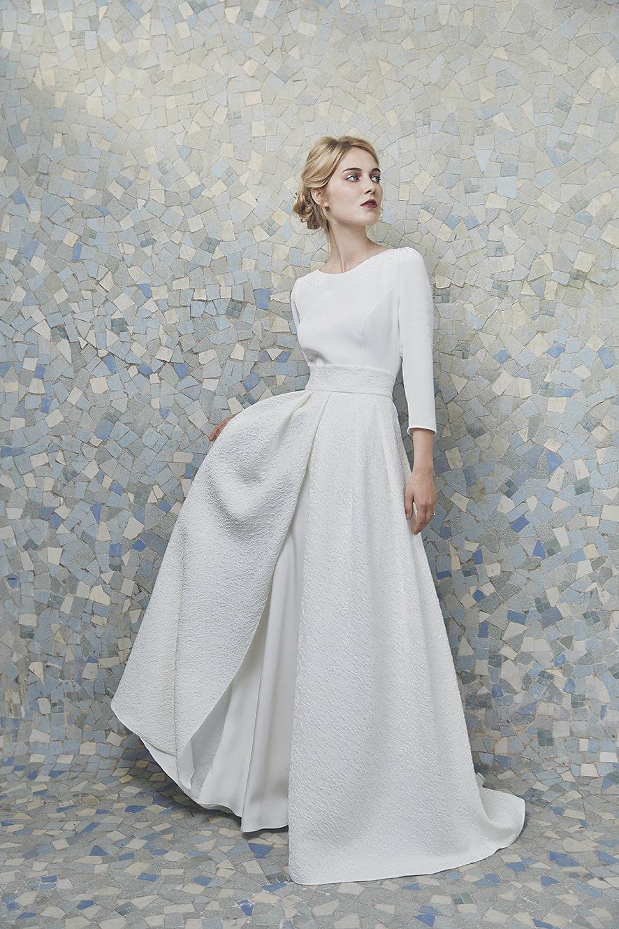 Anne de Lafforest collection 2019 robes de mariée | La Mariée Sous Les Etoiles | Credit Camille Richez