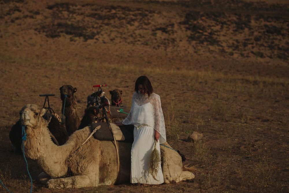 une mariée entre Marrakech et le désert de Zagora