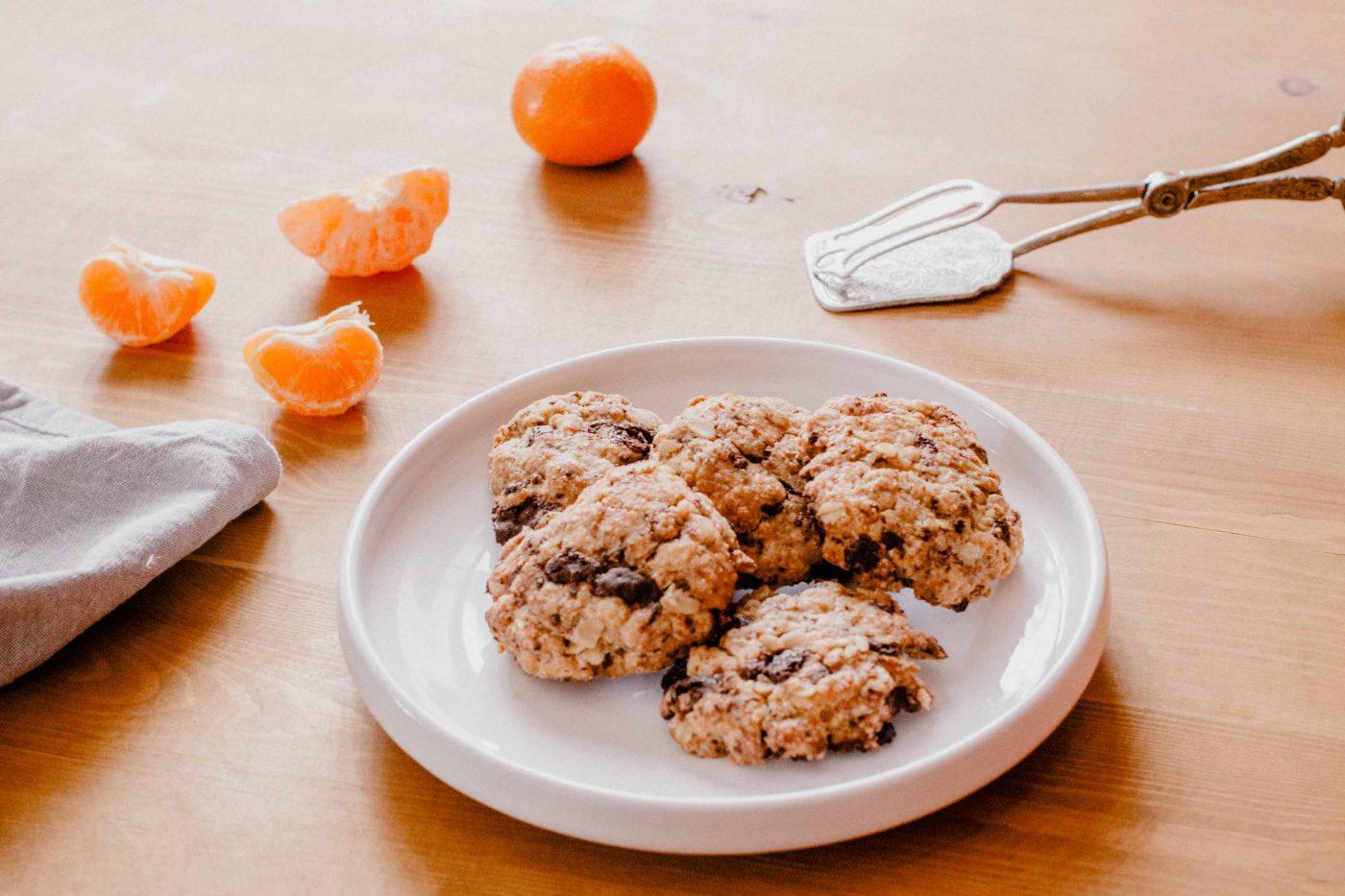recette cookies aux flocons d'avoine et chocolat sans lactose