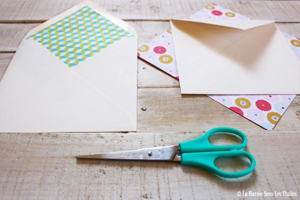 Do It Yourself : Comment créer une enveloppe personnalisée   Blog Mariage   La Mariée Sous Les Etoiles