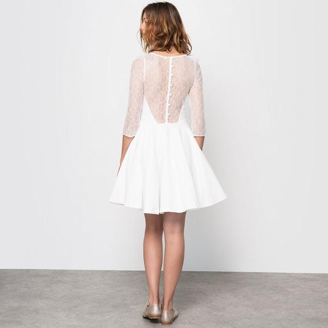 Petite robe de mariée civile et courte Mademoiselle R - La Redoute | Blog mariage La Mariée Sous Les Etoiles