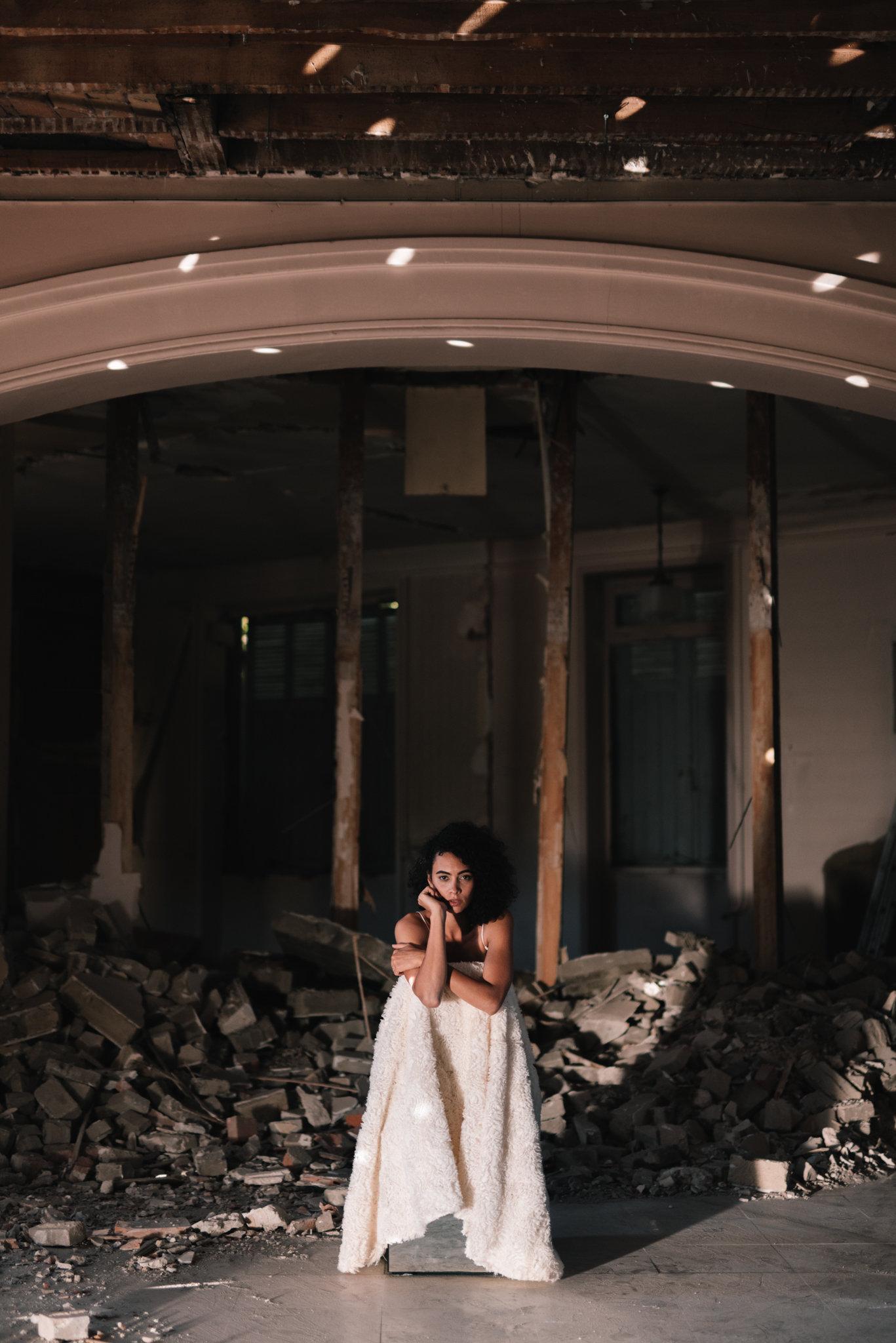 Clémentine Iacono   Collection 2019 robes de mariée   Crédit Chloé Lapeyssonnie   La mariée sous les étoiles